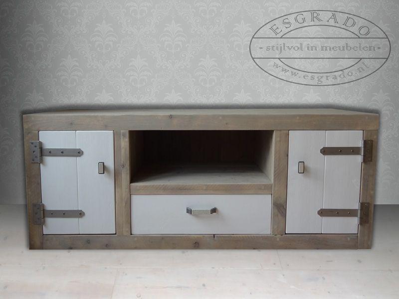 Tv meubel met omlijsting | Steigerhouten meubels op maat | Pinterest