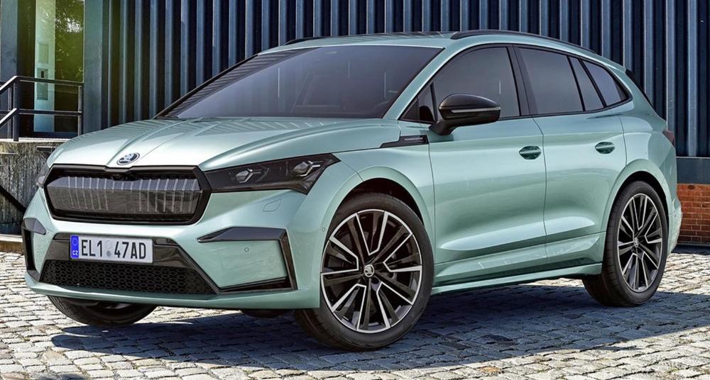 سكودا إنياك أي في 2021 الجديدة بالكامل كروس أوفر كهربائية أنيقة ورائعة بكل معنى الكلمة موقع ويلز Car Skoda Bmw Car