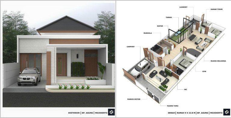 10 Denah Rumah Minimalis 3 Kamar Tidur 1 Lantai 2020 Beserta Keterangannya Dekor Rumah Di 2020 Denah Rumah Rumah Minimalis Rumah