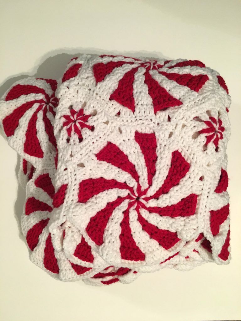 Crochet Peppermint Swirl Blanket With Pattern And Video Link