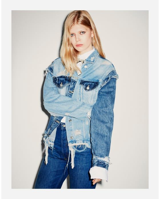 Image 1 Of The Vintage Denim Jacket From Zara