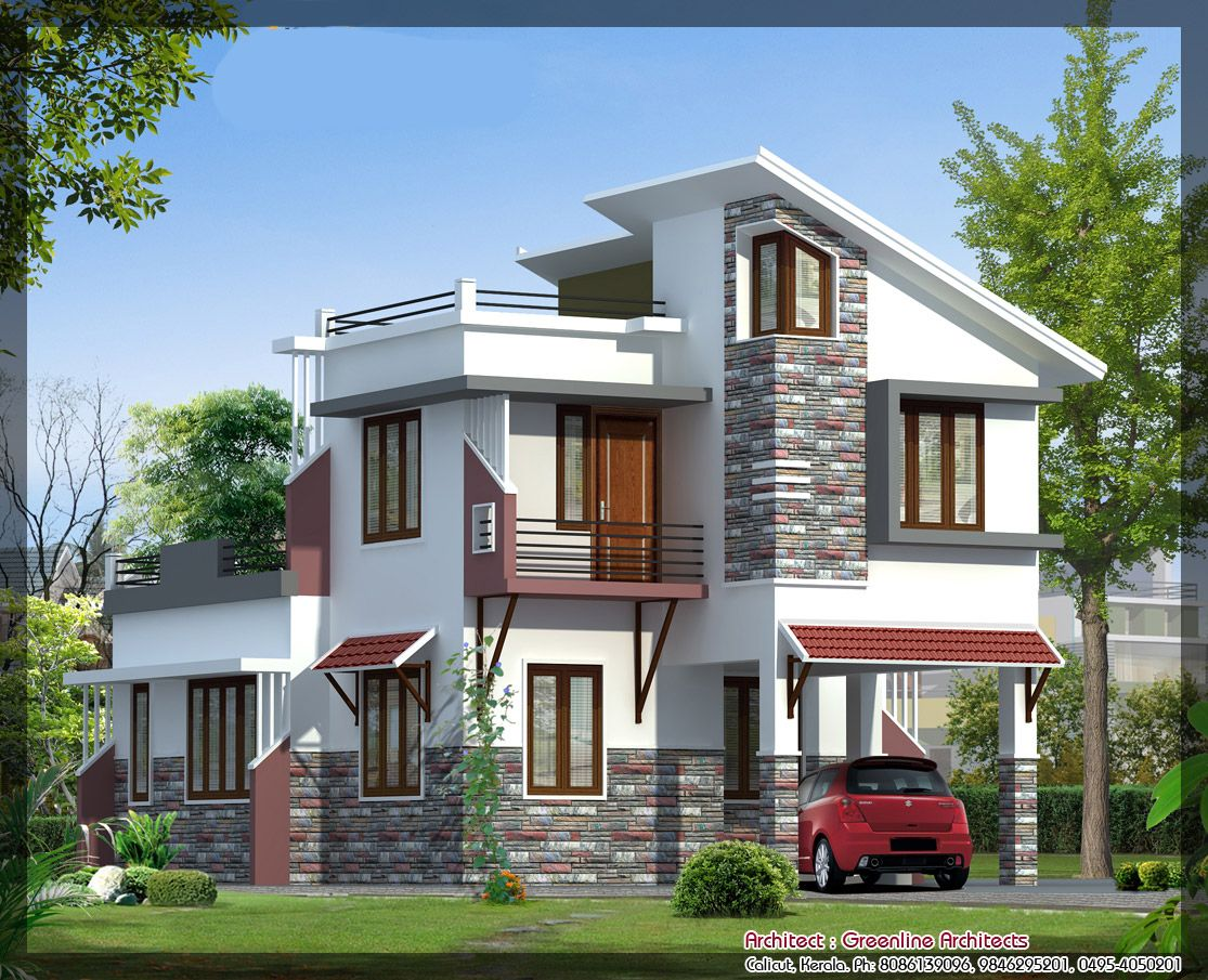 Latest villa elevation at 1577 best elevation http for Indian house photo gallery