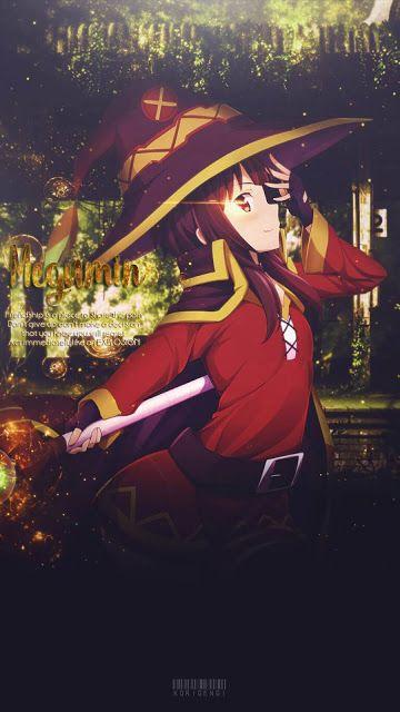 Megumin Karakter Animasi Gadis Animasi Gadis Manga
