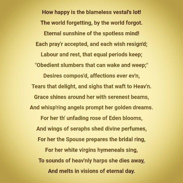 Eternal Sunshine Of The Spotless Mind Alexander Pope Eloisa To