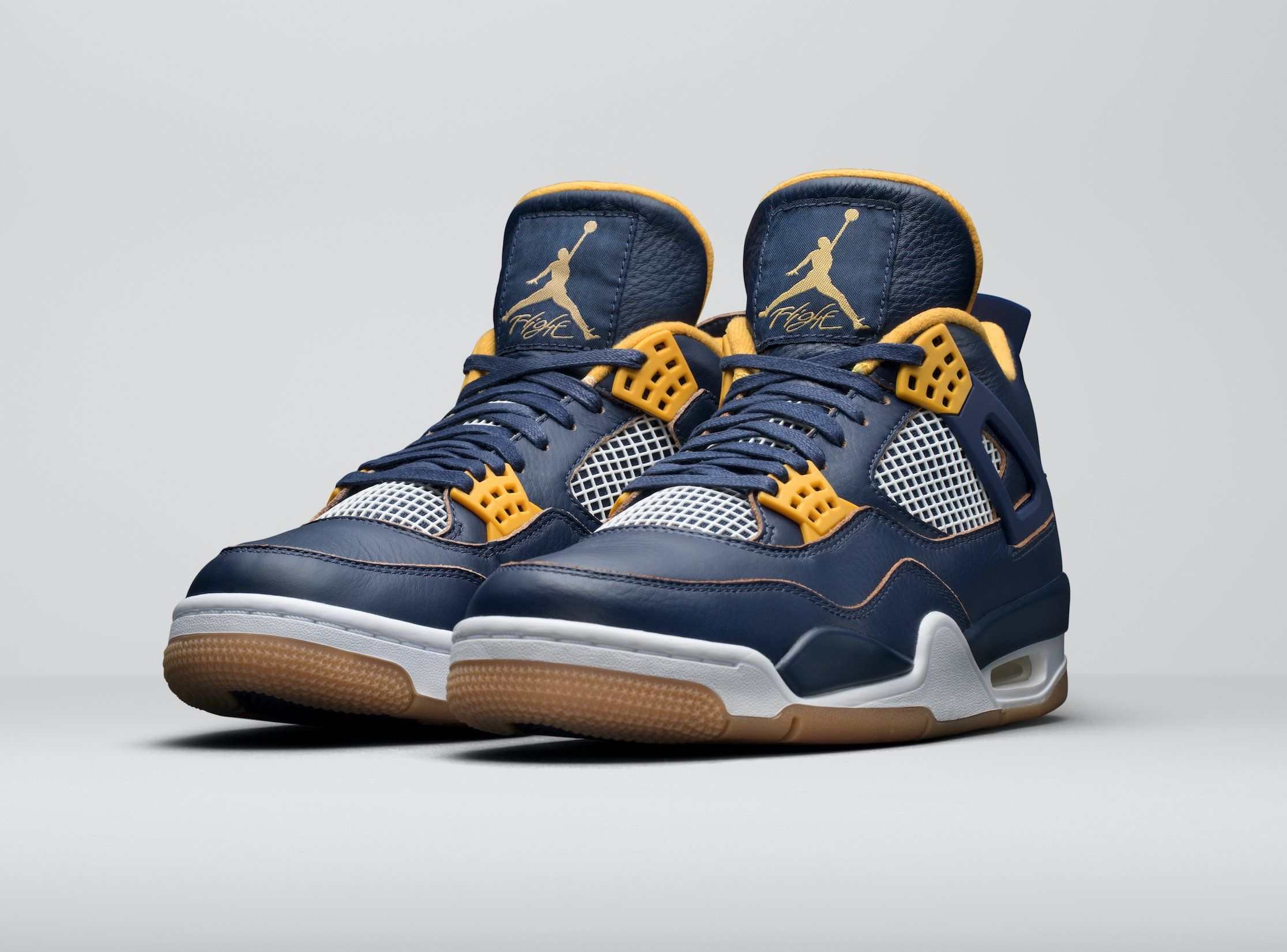 I just copped these Nice Navy leather, yellow accents, gum soles. Check out  the Air Jordan 4 for Spring 2016 . Great for a business casual look