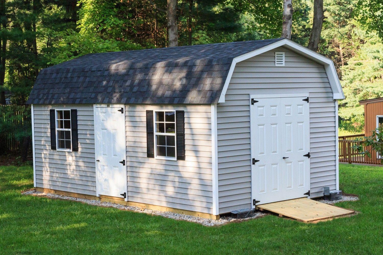 12 X 20 Dutch Vinyl Mini Barn Pool Houses Shed