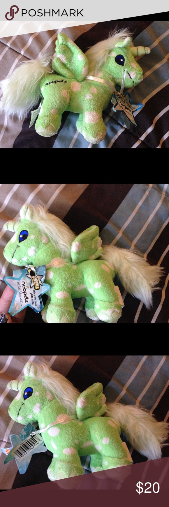 NWT Super Cute Neopets Unicorn Baby Dolls Toy Brand New