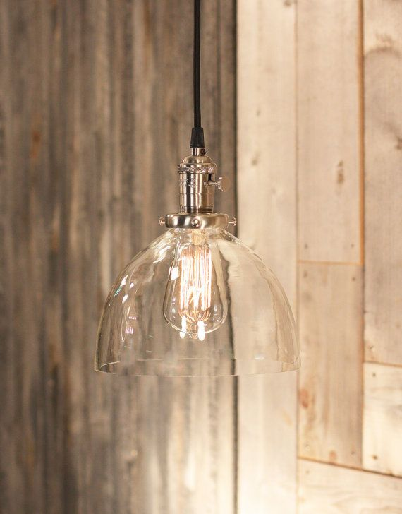 Hanging Lighting With Simple Clear Glass Shade by lucentlampworks ...