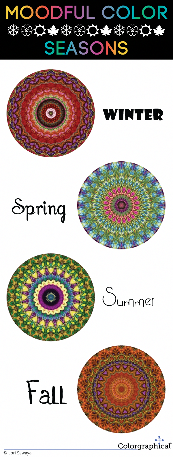 A new infographic plotting colors for the seasons. Mandalas are my chosen tool to help you relate to not only color in context but color in life. In this case, the colors of life season by season. #candlecolormeanings A new infographic plotting colors for the seasons. Mandalas are my chosen tool to help you relate to not only color in context but color in life. In this case, the colors of life season by season. #candlecolormeanings