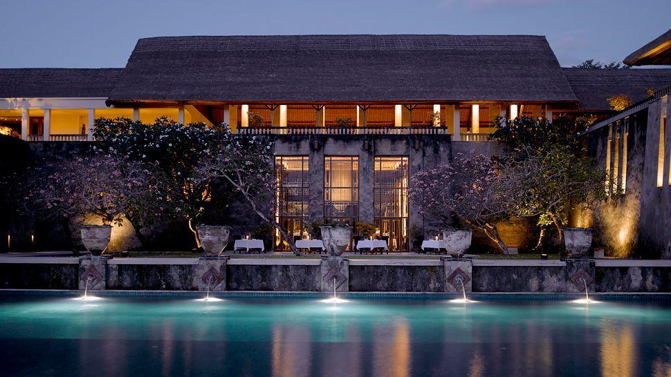 Pool Restaurant Hotel Pictures Bali Arsitektur Indonesia