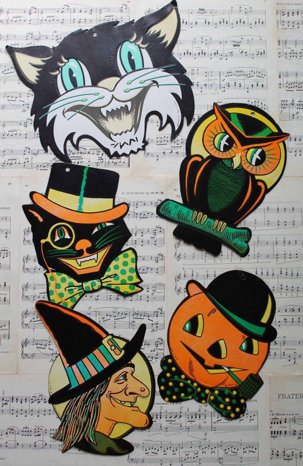 vintage halloween clipart free