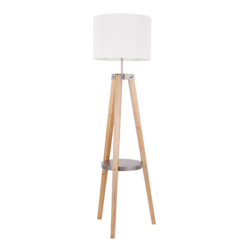 Maylis 58 5 Tray Table Floor Lamp Floor Lamp With Shelves Mid Century Modern Floor Lamps Modern Floor Lamps