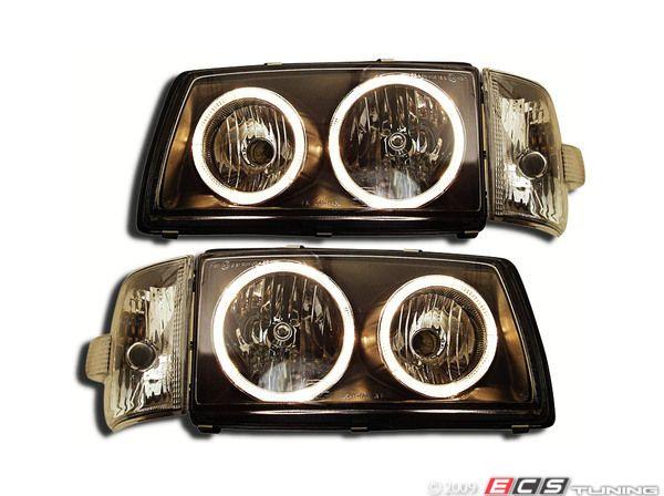 Eurovan Smoked Angel Eye Headlight Set With Sidemarkers No Longer Available Angel Eye Headlights Headlights Angel Eyes