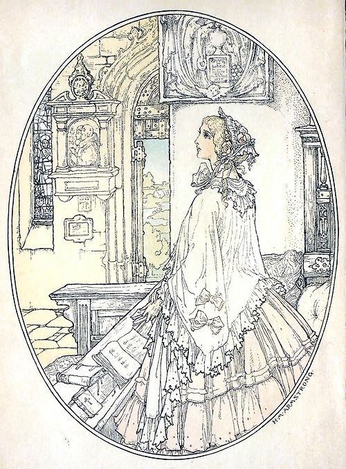 Helen Maitland Armstrong, frontispiece from Maud, by Alfred, Lord Tennyson, New York,1905.