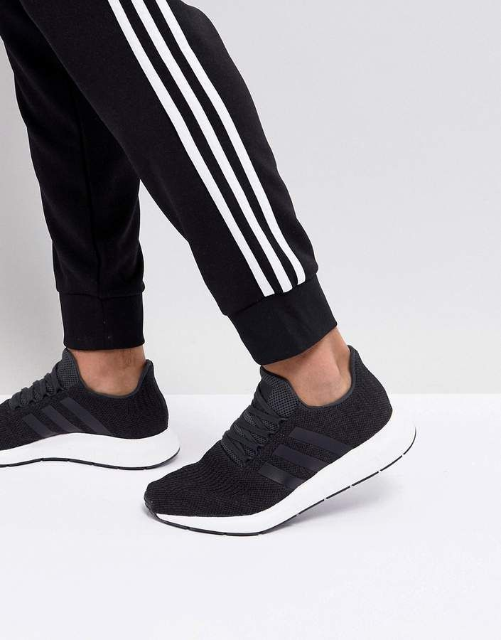 uk availability 66c92 e7761 adidas Originals Swift Run Sneakers In Black CQ2114  adidas  originals   sponsored