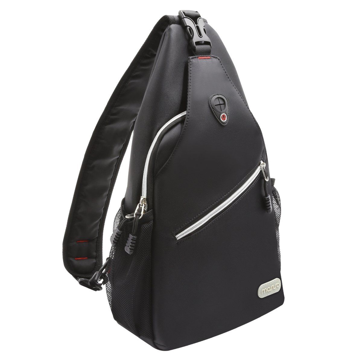 fc84c839cd2e Mosiso Sling Bag, Polyester Water Repellent Durable Chest Shoulder ...