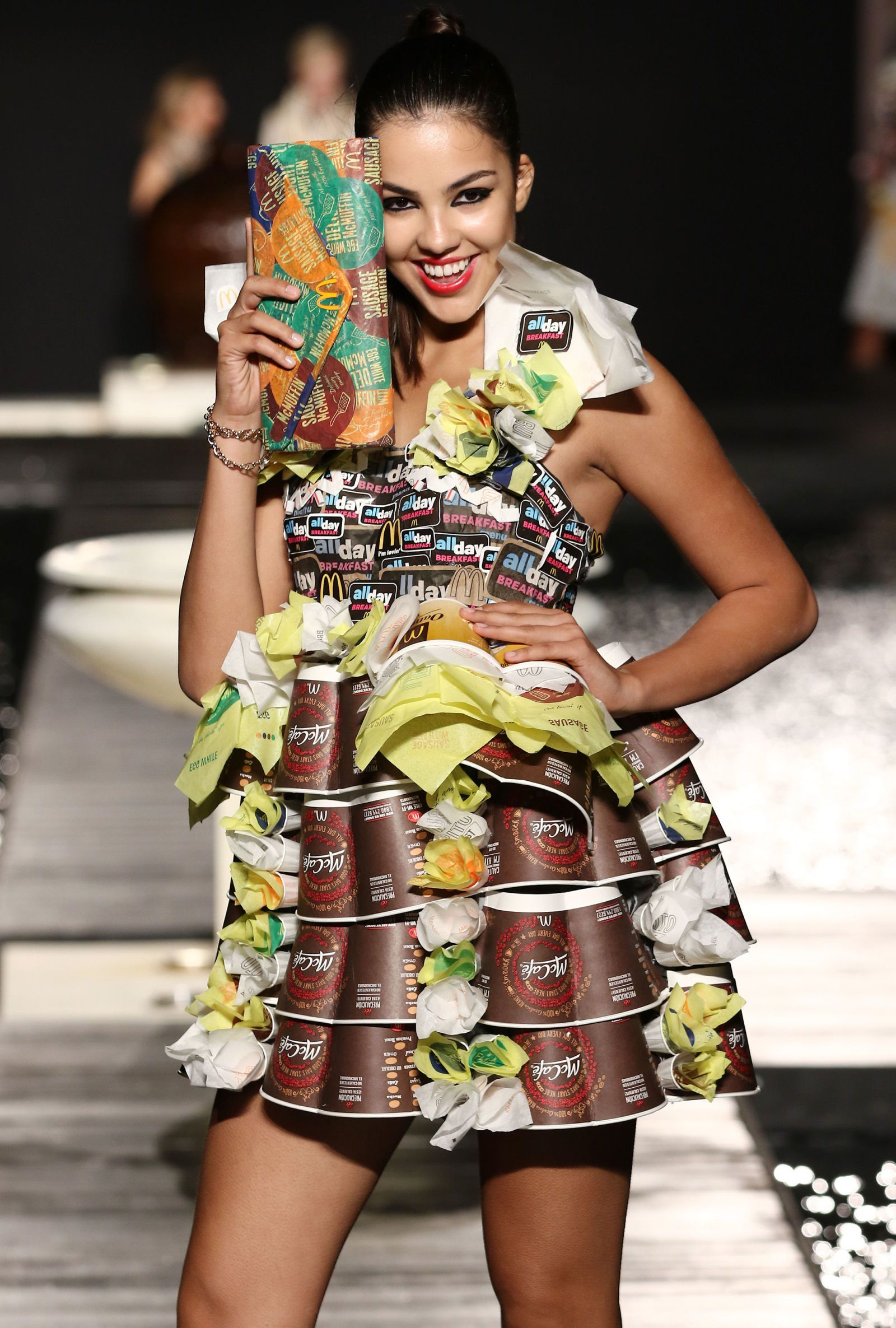 Mcdonald S Debuts A Fashion Line Made Out Of Its Trash Fashion Couture Fashion Fashion Line