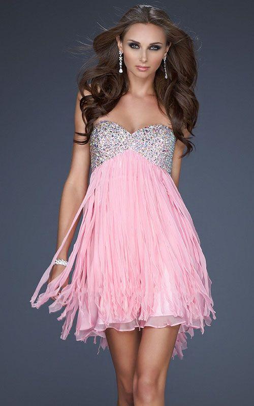 Short Formal Dresses Pink Short Pink Prom Dresses With Diamonds