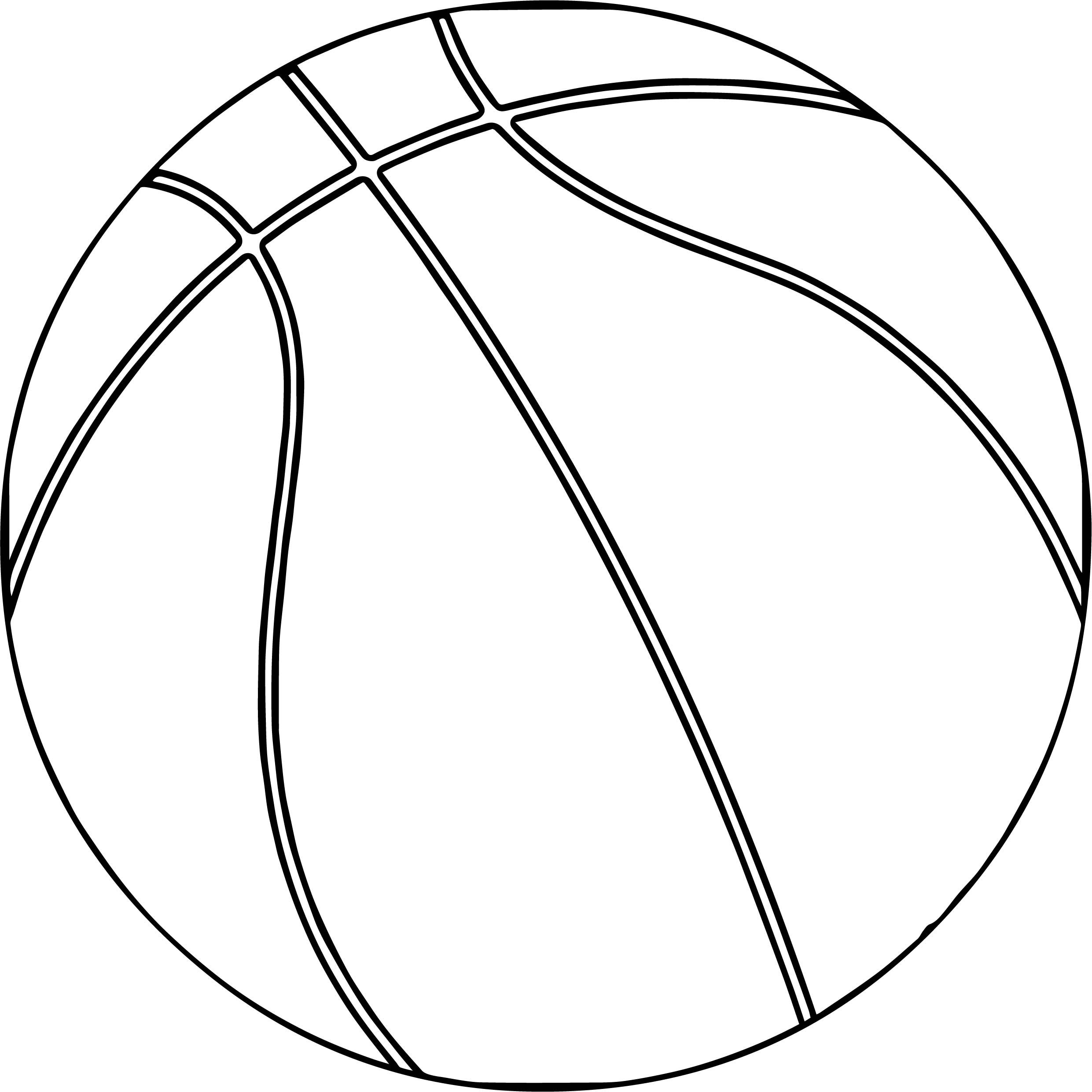 Cool One Basketball Ball Playing Basketball Coloring Page Sports