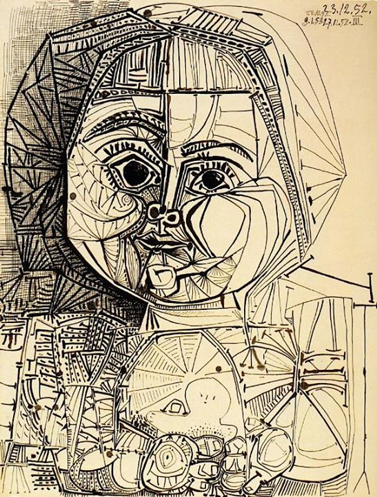 pablo picasso paintings sculpture drawing feb march 1952
