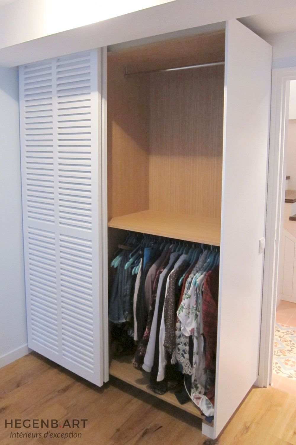 Contemporary Custom Cupboard With Blind Door By Hegenbart In 2021 Armoire Makeover Armoire Diy Armoire Repurpose