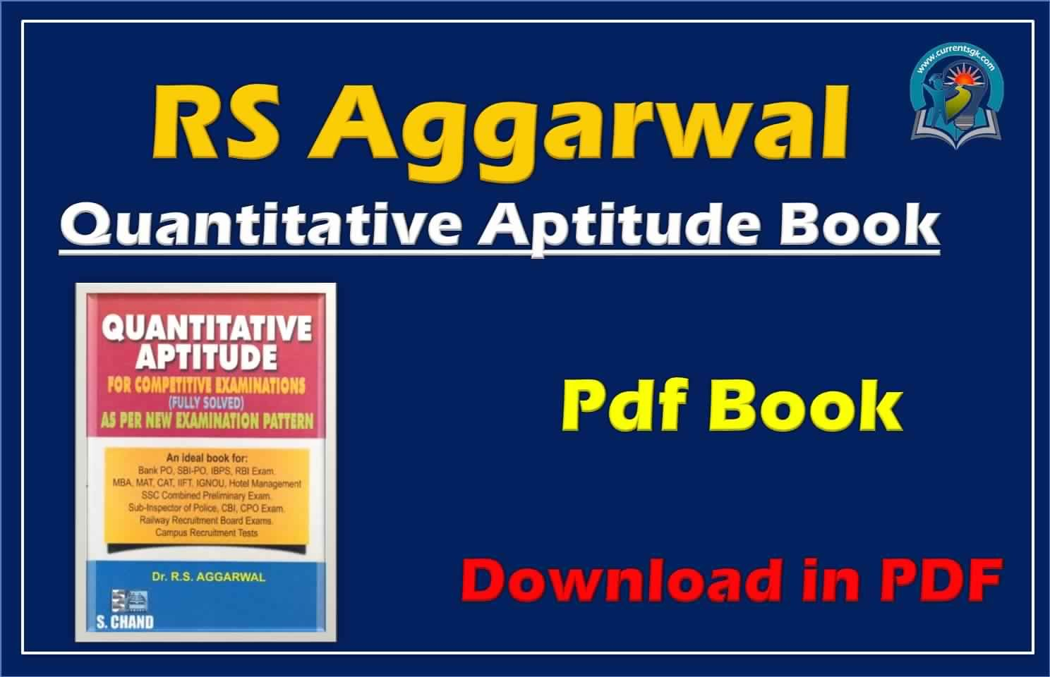 Rs Aggarwal English Aptitude Book