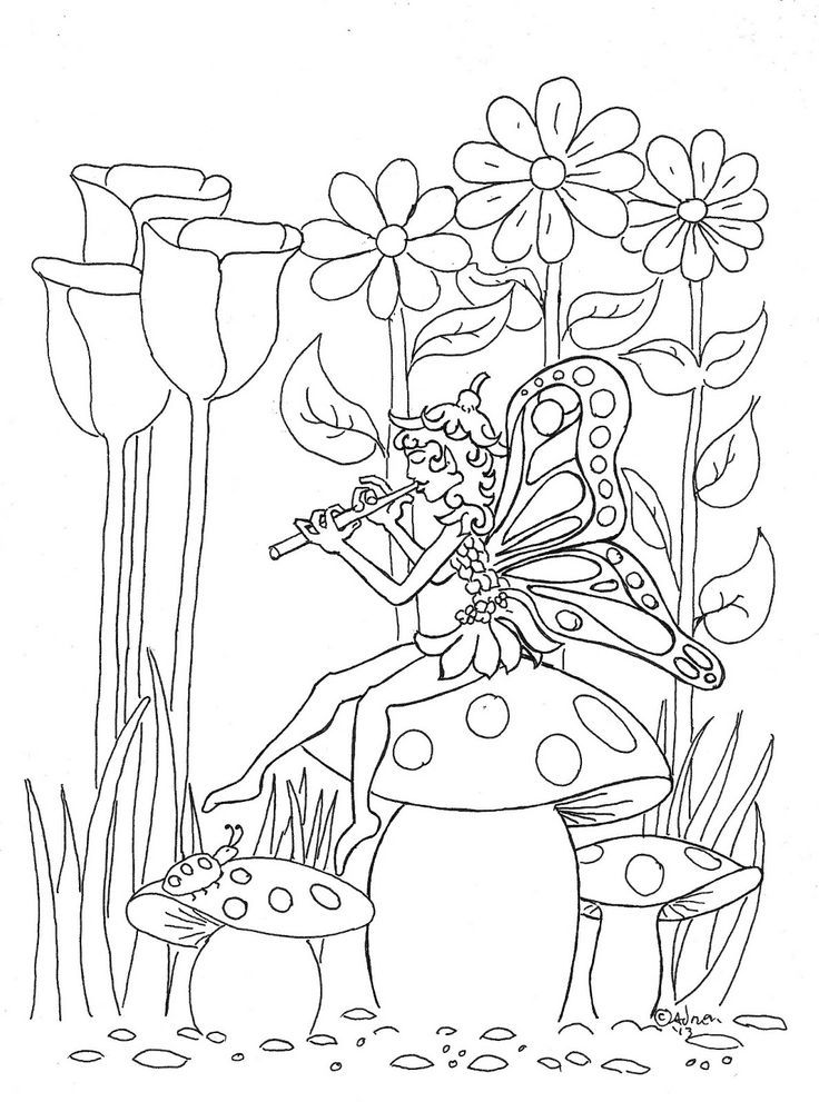 Fairy Coloring Pages | Fairy coloring, Garden coloring ...