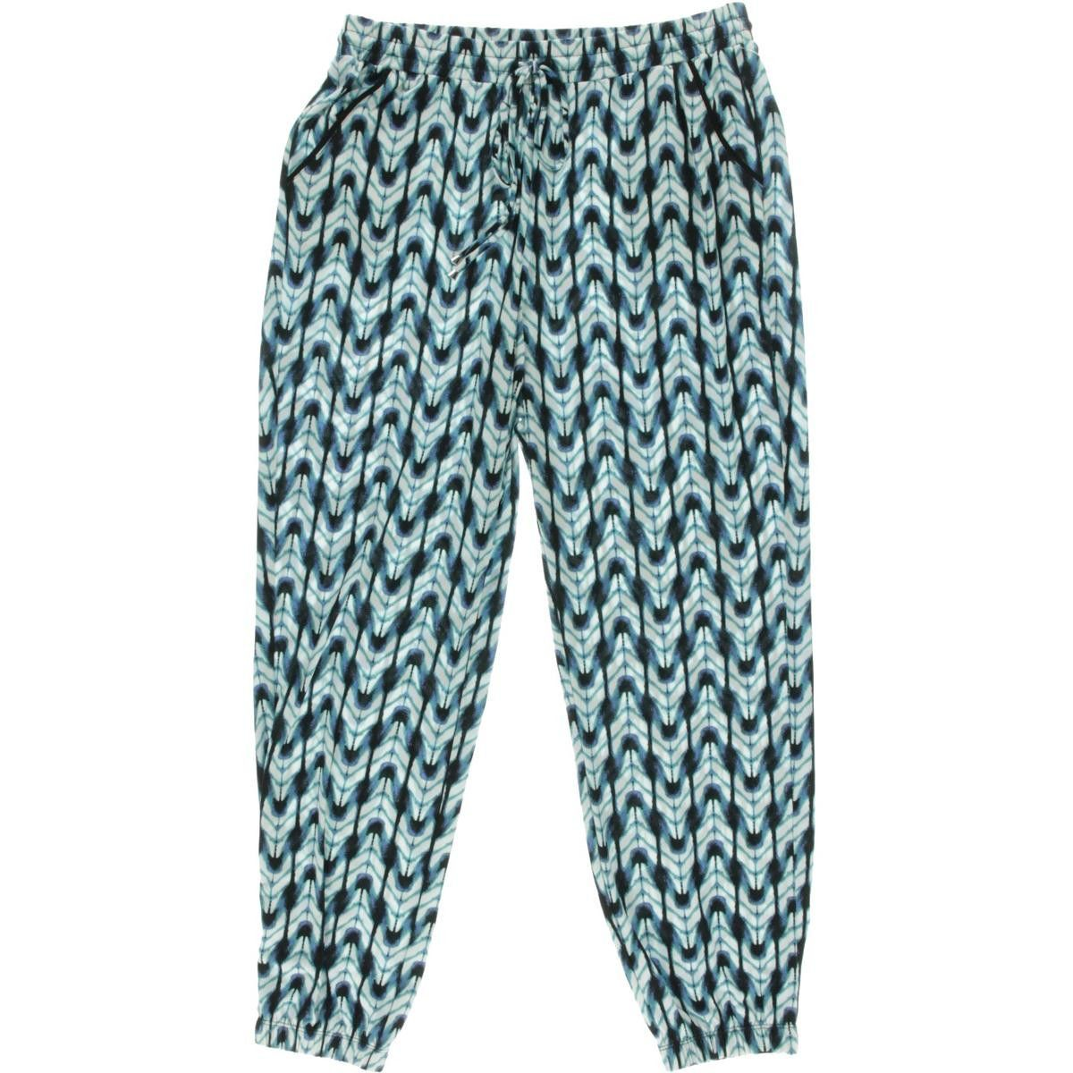 NY Collection Womens Printed Pull On Jogger Pants