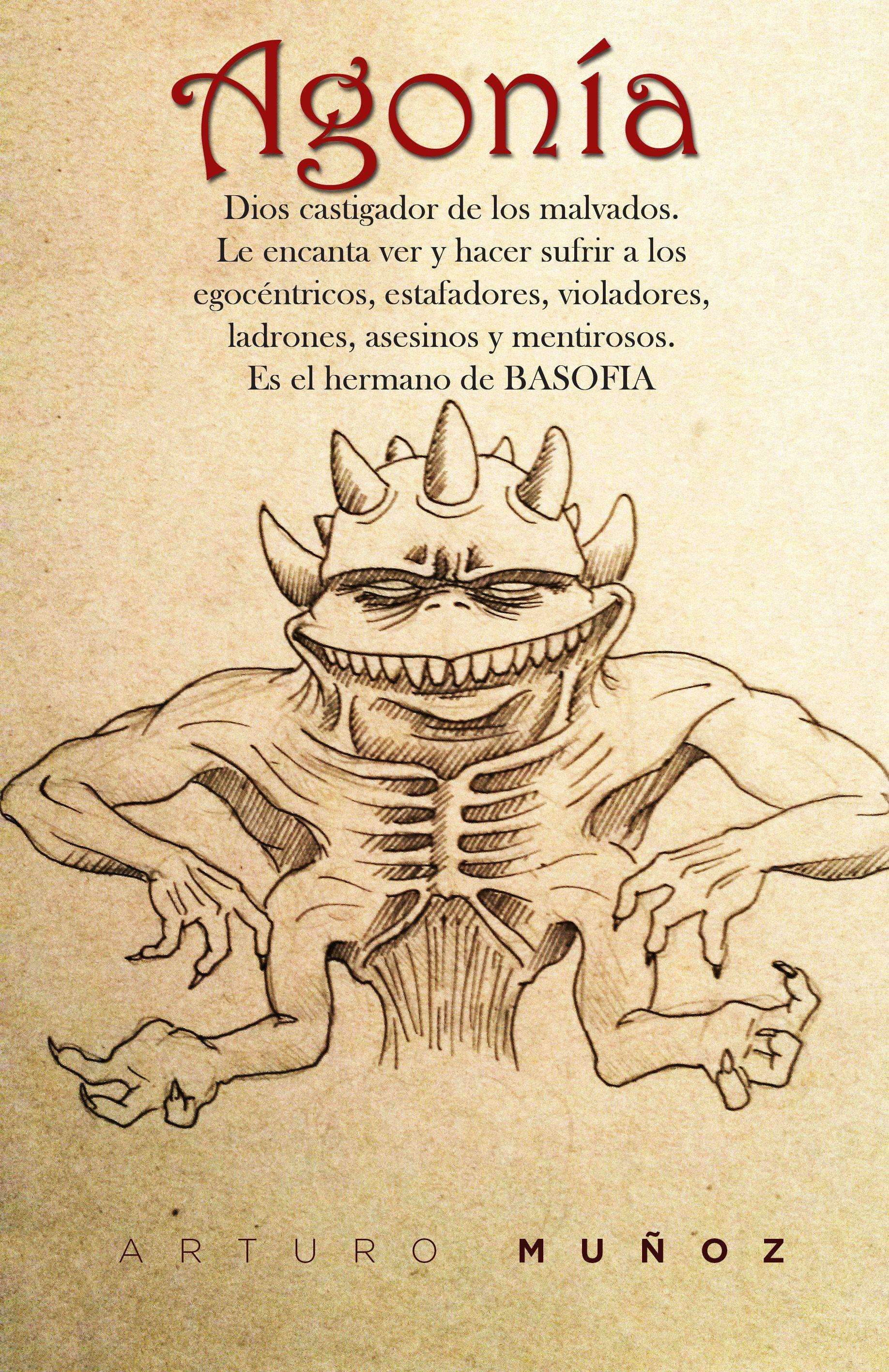 Agonía -  ilustración de personajes.