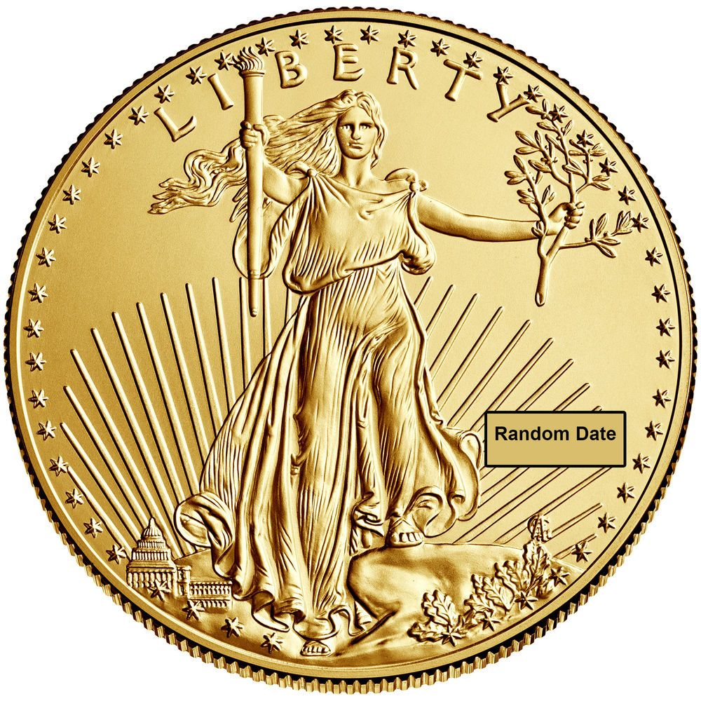 5 1 10oz American Gold Eagle Bu Random Date American Eagle Gold Coin Gold Bullion Coins Gold Eagle Coins