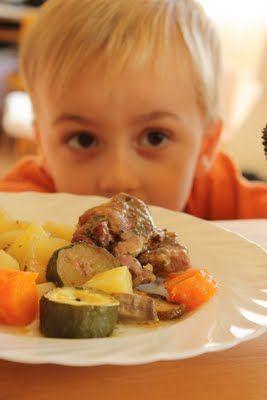 Illatos tarja vele sült zöldségekkel