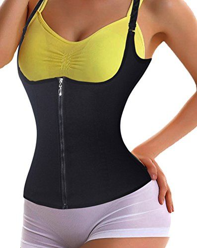 403c2cc07 LODAY Waist Trainer VestCompression Training Corset Body Shaper Zipper 3  Hooks L BLACK     Want to know more