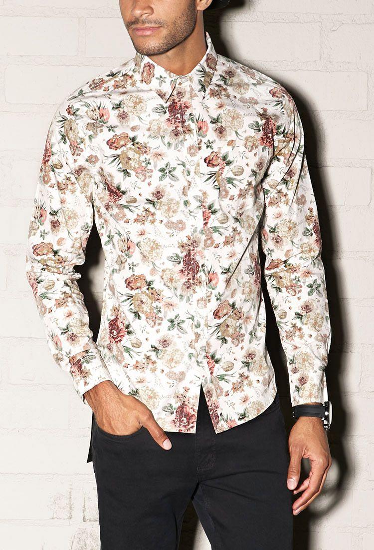 4281d76ef22 Forever 21 Slim Fit Floral Shirt | Man style | Designer clothes for ...