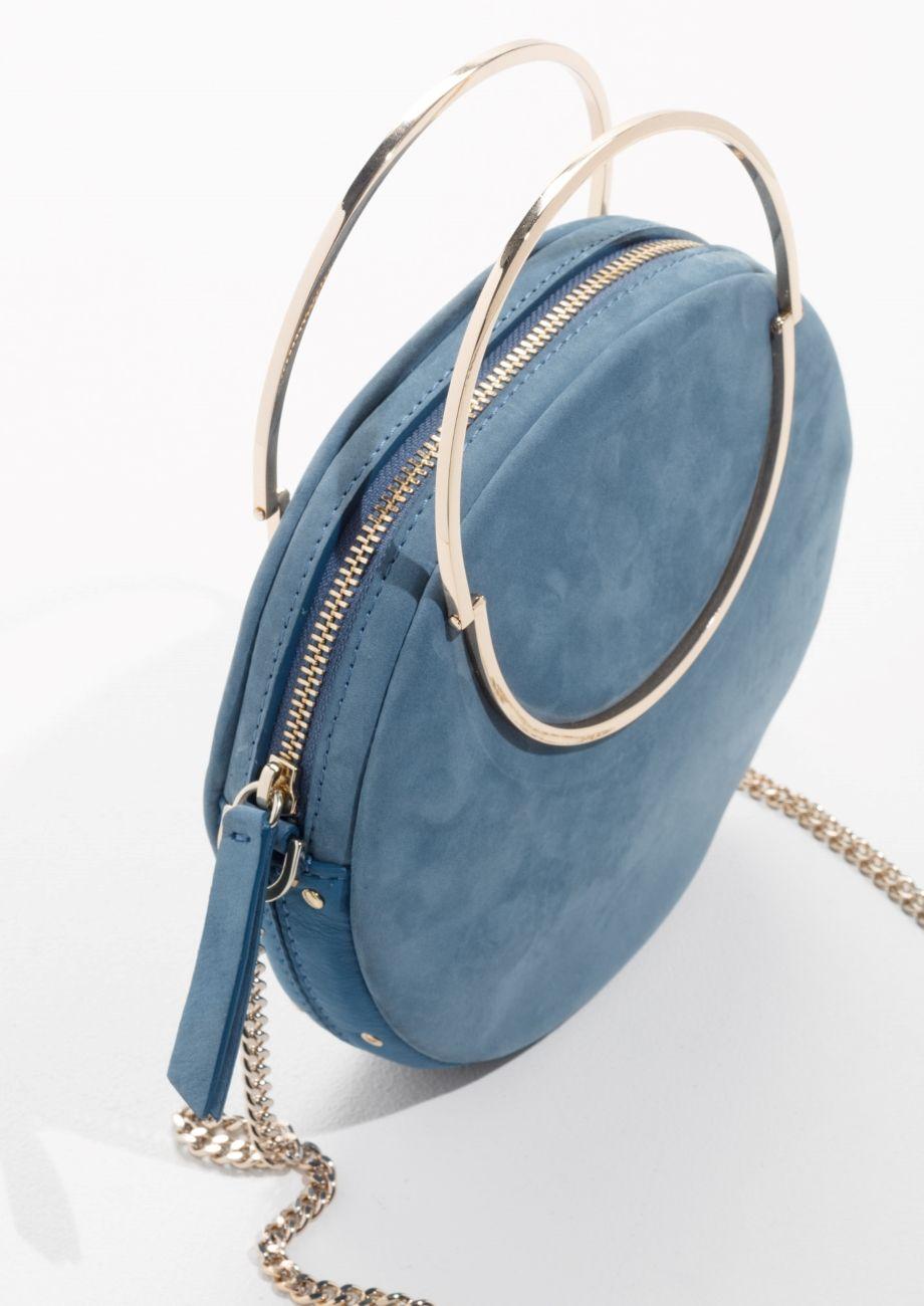 67797849e650 Other Stories - Small Leather Circle Bag in Blue - borsa piccola in pelle -  bolso pequeño de piel