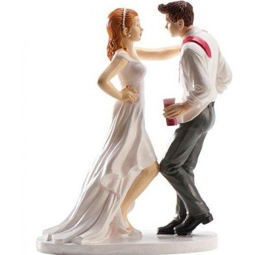 Dekora 305043 Figurine Montrant sa Bague pour Le Gateau de Mariage 16 cm