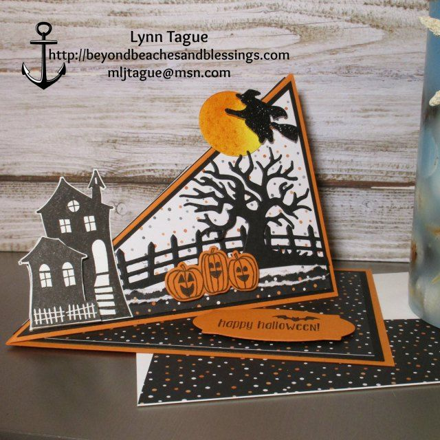 StampinUp Fun Fold Easel Halloween Card made with Halloween Nights Designer…