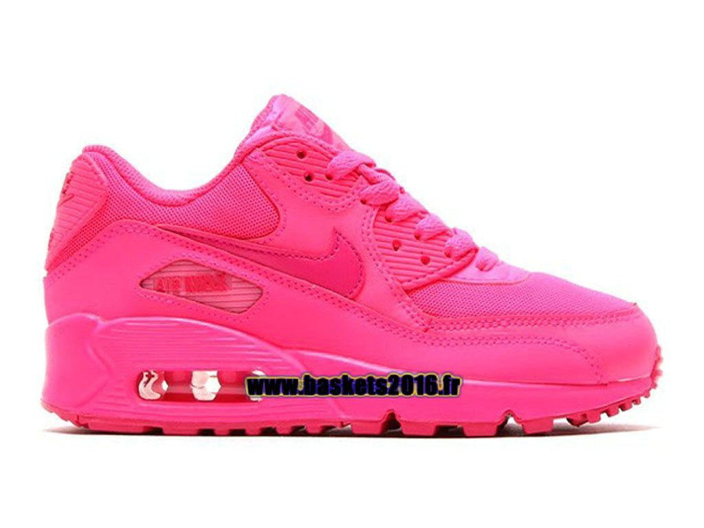 free shipping fd491 db331 Nike Air Max 90 Chaussure Nike Officiel Pour Garçons Filles Rose