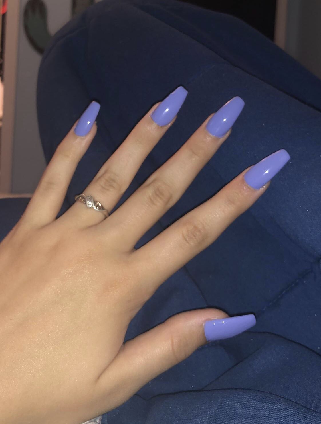 Blue Purple Acrylic Nails Coffin Long Purple Acrylic Nails Purple Nails Trendy Nails