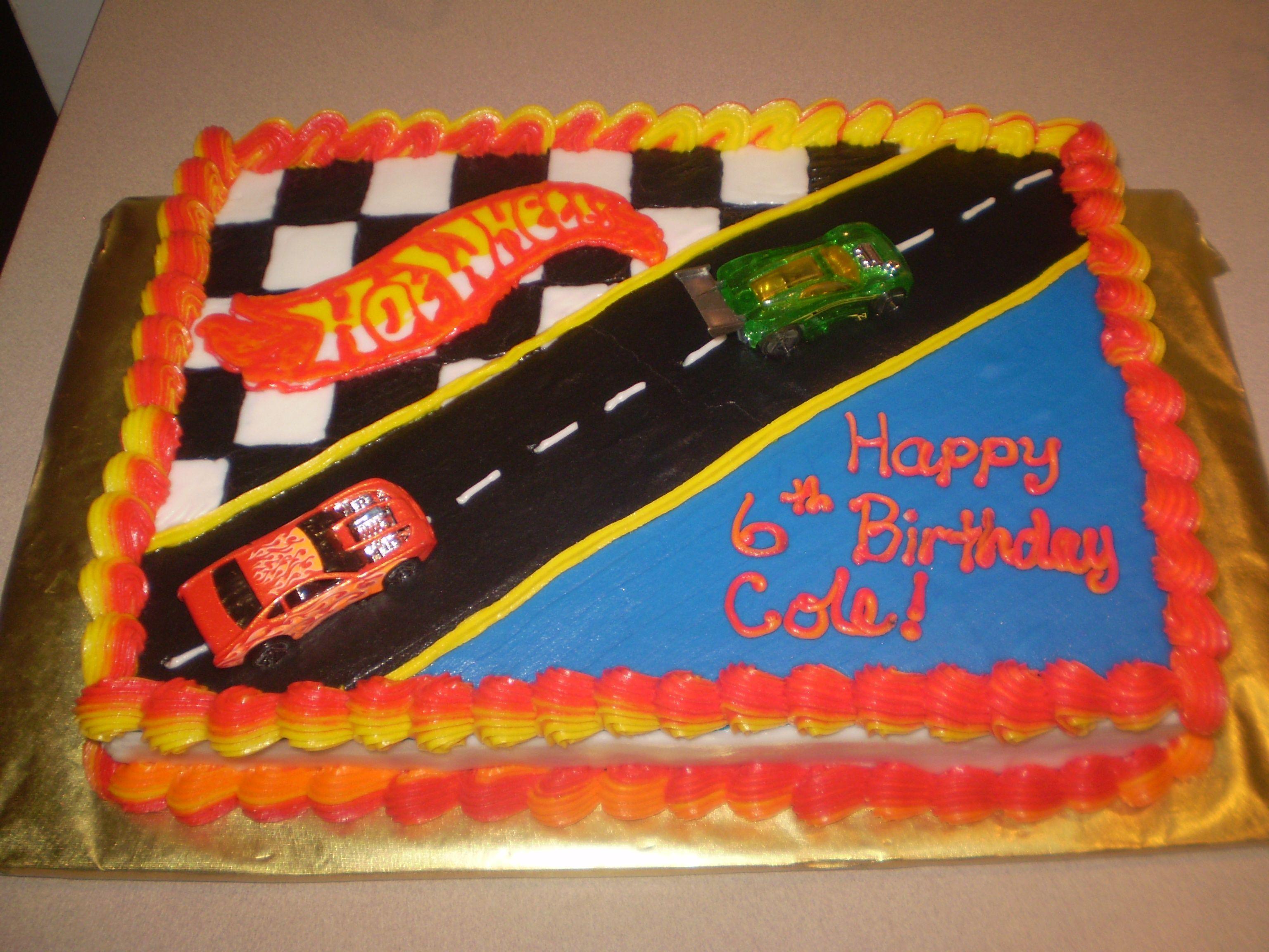 hot wheels birthday cake ideas