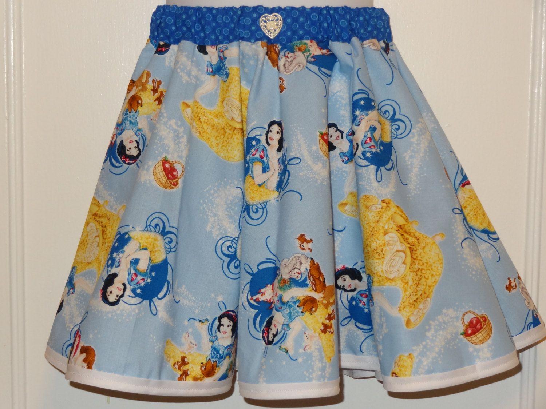 Snow white apron etsy - Disney Snow White Girls Skirt Made To Order Size 3 To Prince Ferdinand Bluew Cotton Fabric Disney Fashion By Designsbygrangran On Etsy