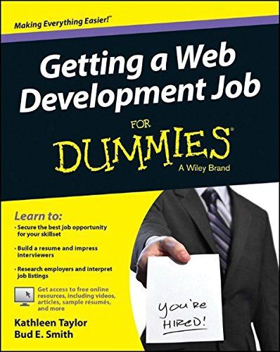 Development Worker Sample Resume Getting A Web Development Job For Dummies  Dummies  Easier Than .