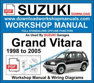 Suzuki Grand Vitara Workshop Manual Grand Vitara Suzuki Grand Vitara Suzuki