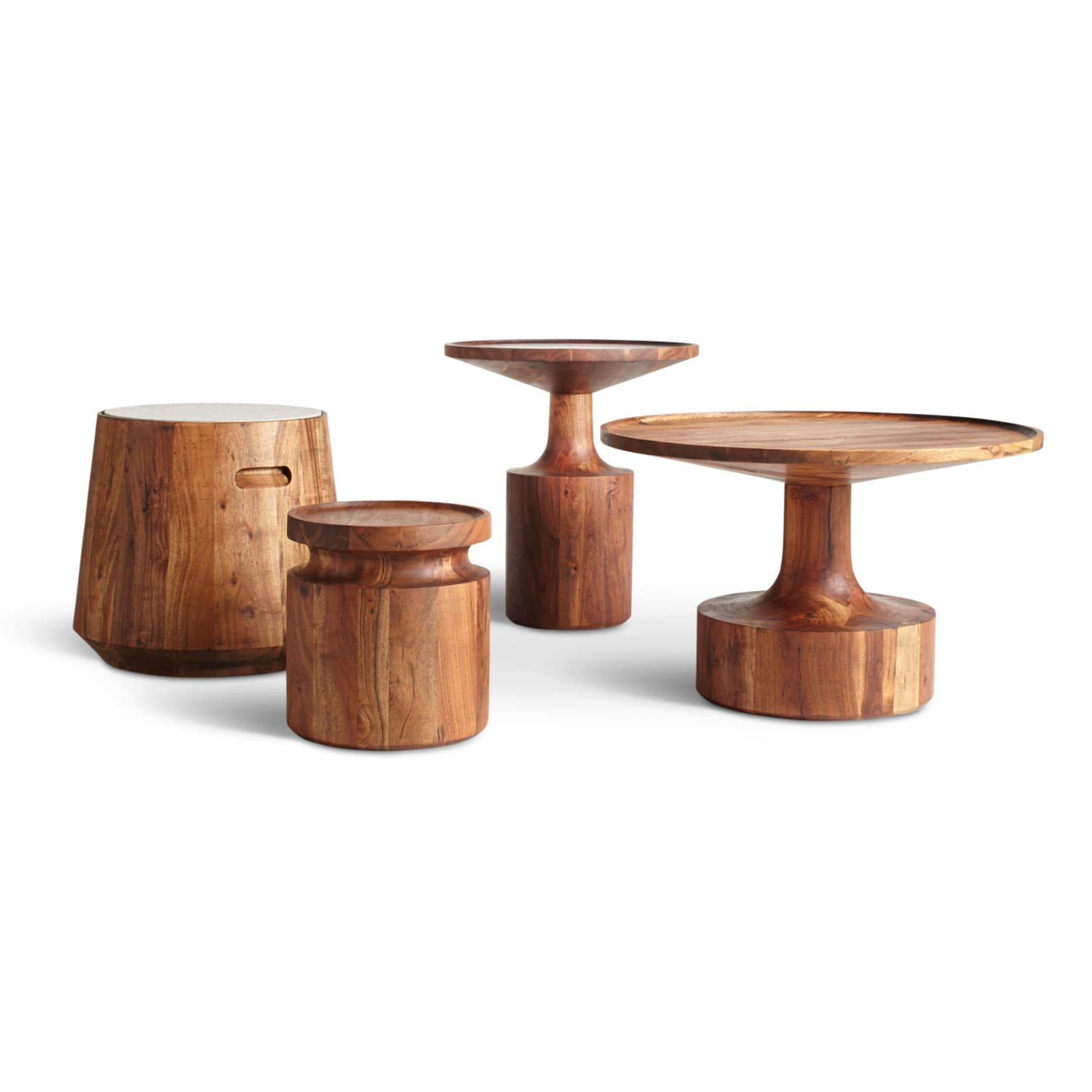 Turn Tall Side Table Side Table Wood Coffee Table Wood Round
