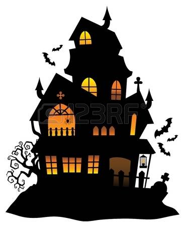 haunted house clipart Google Search House silhouette