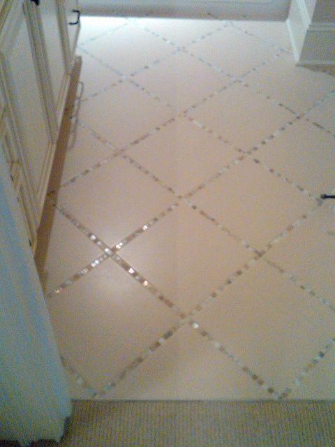 Diy Tile Floor tile floor remove spacers Lay A Thin Strip Of Backsplash Tile In Between The Large Tiles Instead
