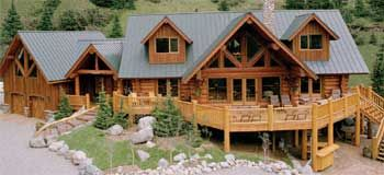 Woodscrest Log Homes Elk Ridge Ranch Log Home Log Home Plans Carriage House Plans Log Homes