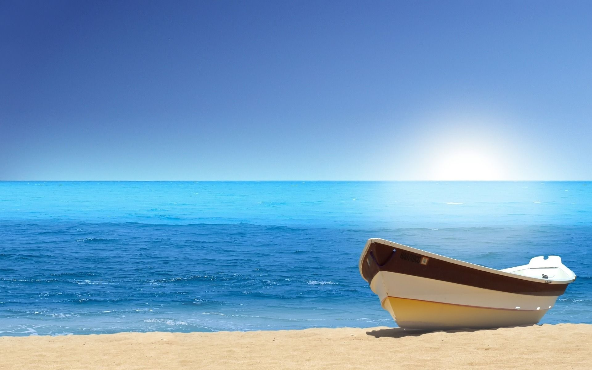 Beach Tropical Sky Sea Boat 4k Wallpaper Hdwallpaper Desktop Wallpaper Beach Sky Sea