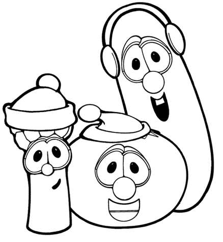 coloring pages veggie tales 5png