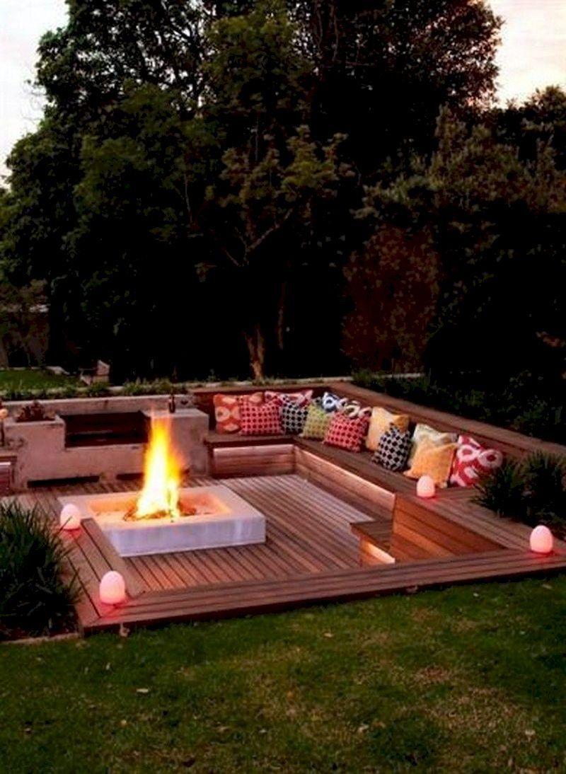 38 Simply Impressive Sunken Ideas for Backyard Landscape ...
