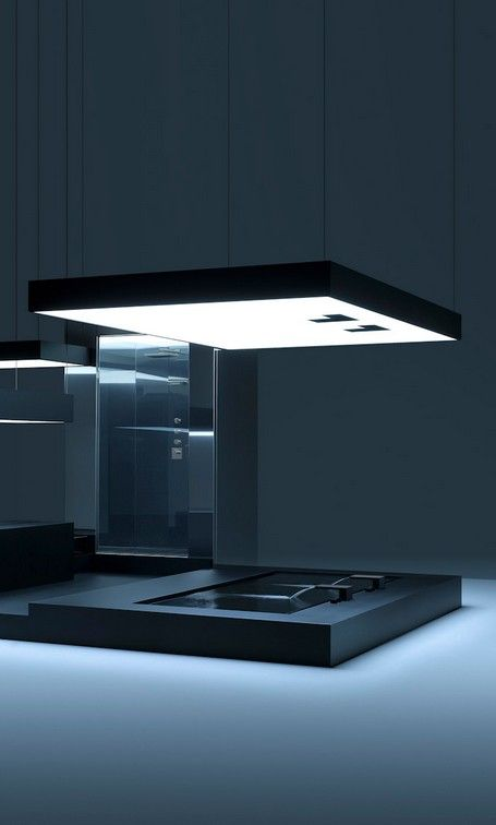 This looks like a bathroom from TRON... | ARCHitecture Space ...